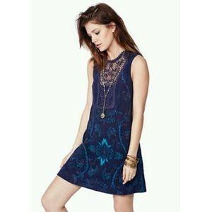 Free People Blue Maribelle Mini Dress